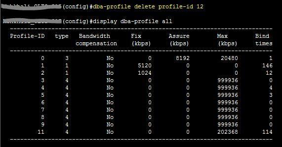 Delete dba-profile