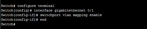 Enable VLAN translation on a port