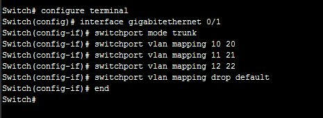 VLAN mapping cisco switch