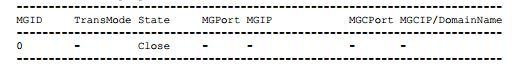 MG interface ID