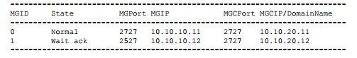 enable MGCP-based MG interface
