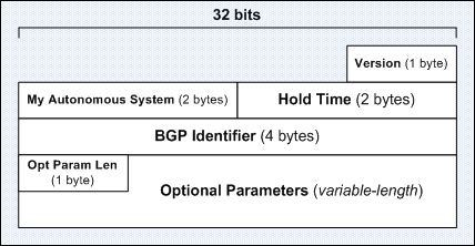 The BGP Open Message Format