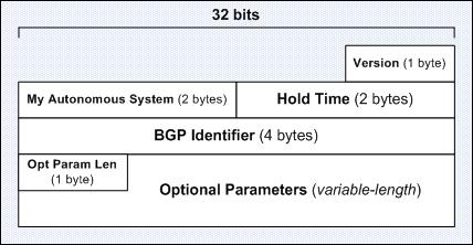 The BGP Open Message Format
