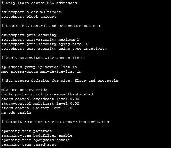 Cisco Switch Port Security