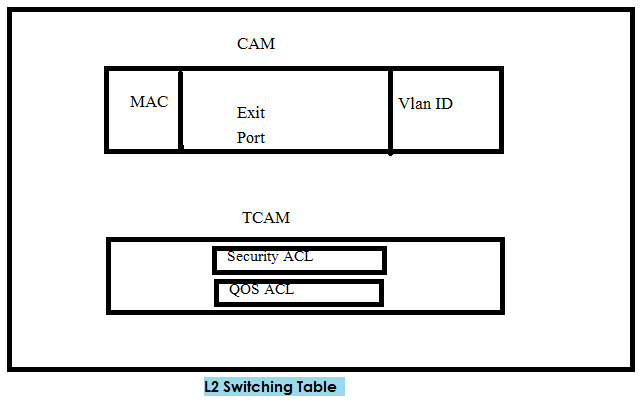 Layer 2 Switching process table