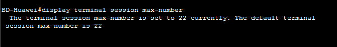 Display terminal session max-number
