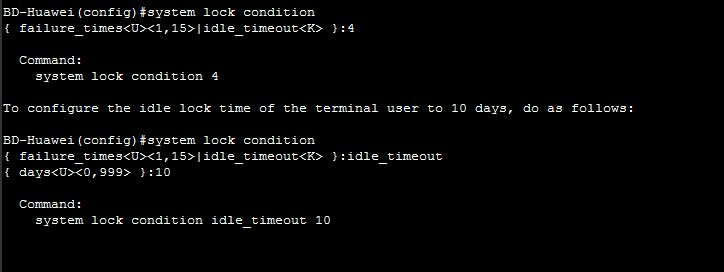 system lock condition