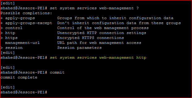 Juniper Remote Access Configuration WEB Service