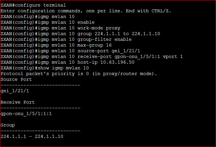 MVLAN Configure in ZTE ZXA10 C220 OLT