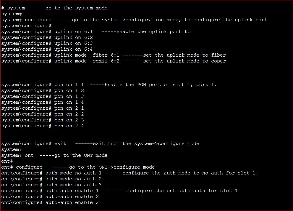 PHYHOME OLT Configuration FH-Net FHL1012B